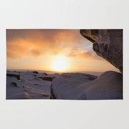 Winter Sunrise on Higger Tor Rug