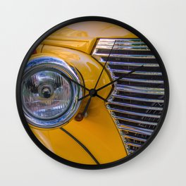 front of a 1940 chevrolet car Wall Clock