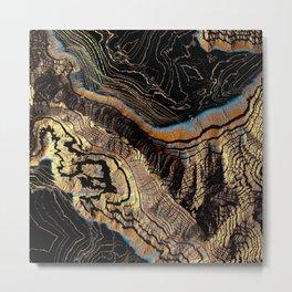 Golden Canyons Metal Print
