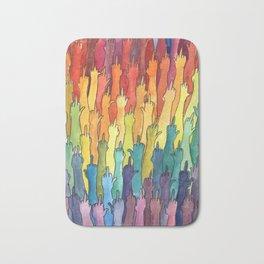 fuck-off in rainbow power Bath Mat