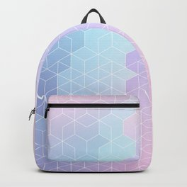 Geometric pastel vibes pattern 1 #pattern #decor #abstractart Backpack