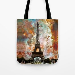 The Eiffel Tower - Paris France Art By Sharon Cummings Tote Bag