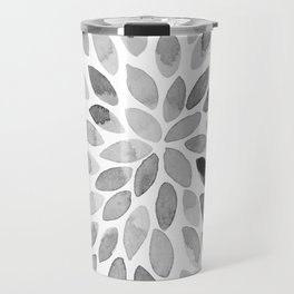 Watercolor brush strokes - black and white Travel Mug