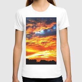 Fantastic Sunset, blue and orange sky T-shirt