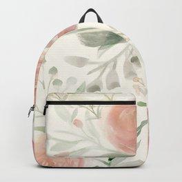 Blush Roses Watercolor Backpack