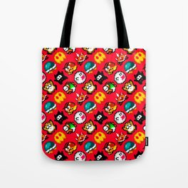Super Mario World | Enemies Pattern | Red Tote Bag
