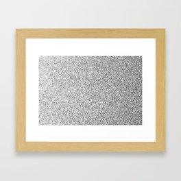 Beautiful Silver glitter sparkles Framed Art Print