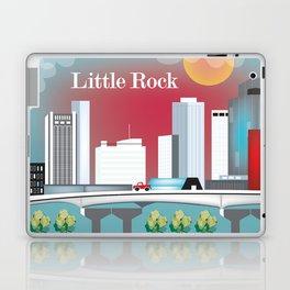 Little Rock, Arkansas - Skyline Illustration by Loose Petals Laptop & iPad Skin