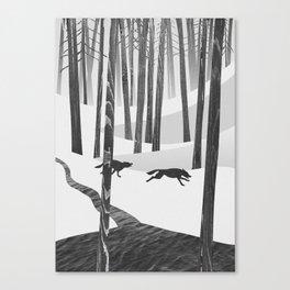 Martwood Wolves Canvas Print