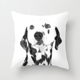 Black and White Dalmatian Throw Pillow