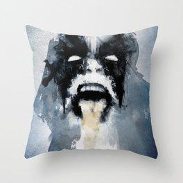 Abbath Throw Pillow