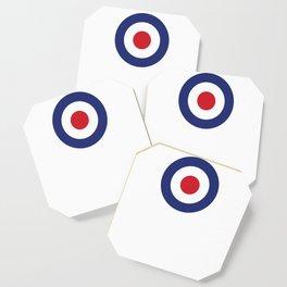 Roundel British Bullseye War Plane Target Icon MOD 60s Britain Coaster