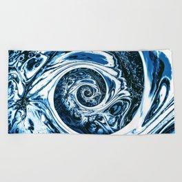 Yoga blue sacral for Kate Beach Towel