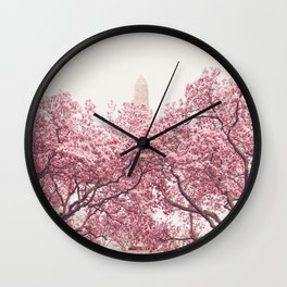 New York City - Central Park - Cherry Blossoms Wall Clock