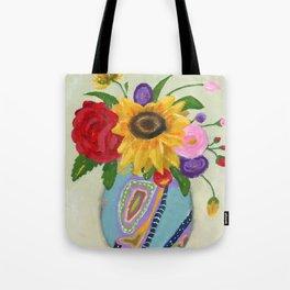 """Flowers for Frida 2"" Tote Bag"