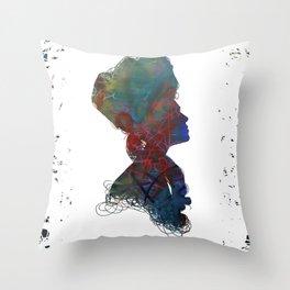 Elizabethan Graffiti Throw Pillow