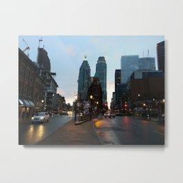 A downtown evening Metal Print