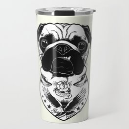 Dog - Tattooed Pug Travel Mug