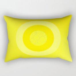 Yellow Ornament Cricle Rectangular Pillow