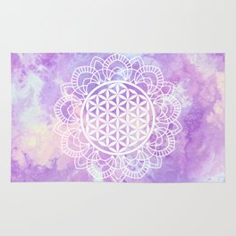 Flower Of Life (Soft Lavenders) Rug