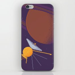Cassini and Saturn (Grand Finale Poster) iPhone Skin