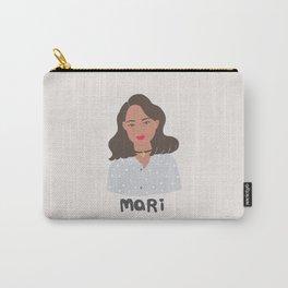 I am MARI, girly illustration, portrait, girl art print Carry-All Pouch