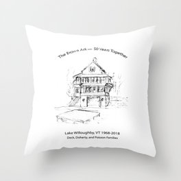 The Brown Ark 50 Year Anniversary Throw Pillow