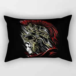 Roman Skull Rectangular Pillow