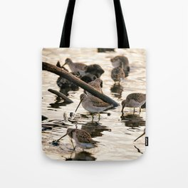 Sand Pipers At Sunset Tote Bag