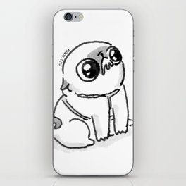 Mochi the pug begging iPhone Skin