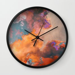 Colorful sky & clouds Wall Clock