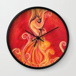 The Rising Phoenix Wall Clock