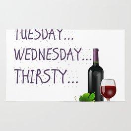 Monday, Tuesday, Wednesday, Thirsty - Wine Rug