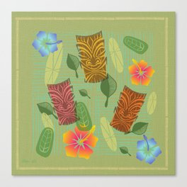 Bamboo Tiki Room Pattern Canvas Print