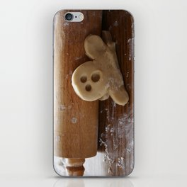 Ginger bread man and rolling pin iPhone Skin