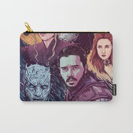 A Game of Fire, Ice and Thrones by Tom Walker Carry-All Pouch