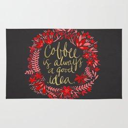 Coffee on Charcoal Rug