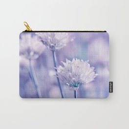 Allium blue macro 038 Carry-All Pouch
