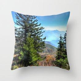 Blue Ridge Mountains North Carolina Throw Pillow