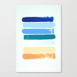 Beach Stripes Canvas Print