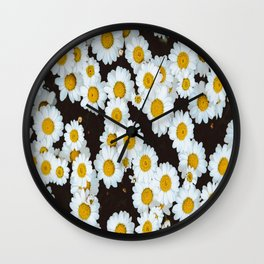 Daisy Flower Design Wall Clock