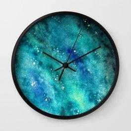 Galaxy watercolor n.2 Wall Clock