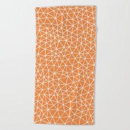 Connectivity - White on Orange Beach Towel
