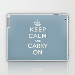 keep calm and carry on Laptop & iPad Skin