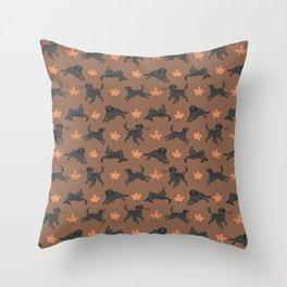 Black Lab Love Throw Pillow