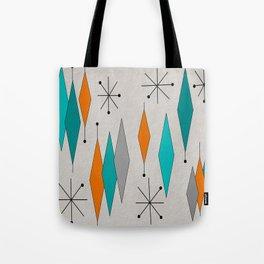 Mid-Century Modern Diamond Pattern Tote Bag