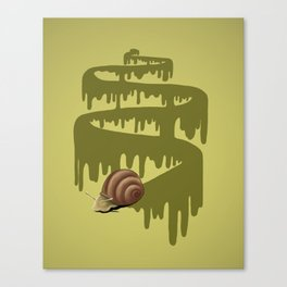 Trail of Snail Canvas Print