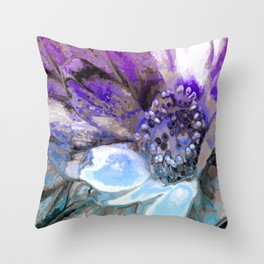 In Sunlight, Lilac and Blue Throw Pillow