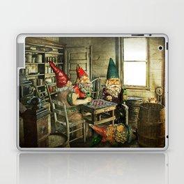 Garden Gnomes Playing Checkers Laptop & iPad Skin