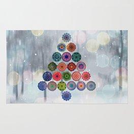 Abstract Christmas Tree Rug